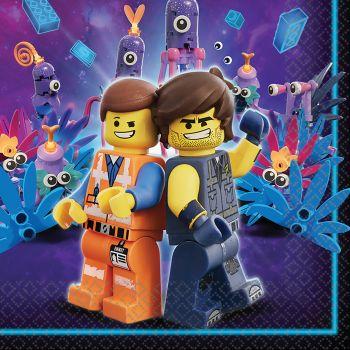 16 Serviettes Lego Movie 2