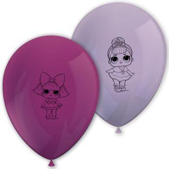 8 Ballons en latex LOL Surprise