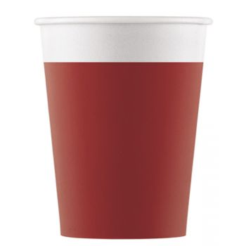 8 Gobelets compostable rouge