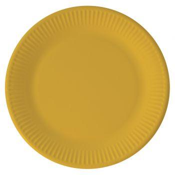 8 Assiettes compostable jaune