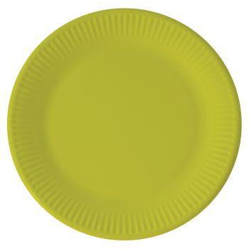 8 Assiettes compostable vert anis