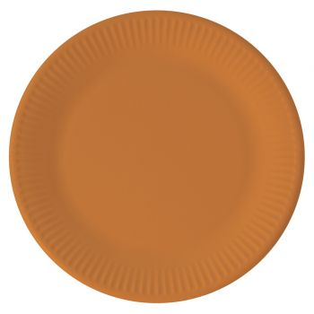 8 Assiettes compostable orange
