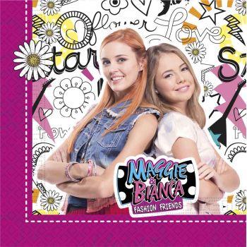 20 Serviettes Maggie et Bianca