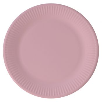 8 Assiettes compostable rose