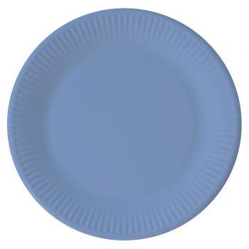8 Assiettes compostable bleu