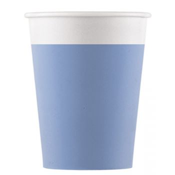 8 Gobelets compostable bleu