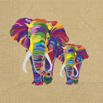20 Serviettes compostable éléphant