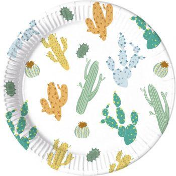 8 Assiettes compostable cactus