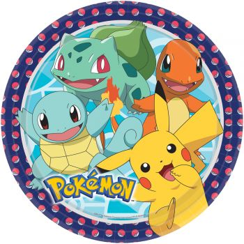 8 Assiettes Pokemon