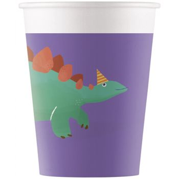 8 Gobelets compostable dinosaure