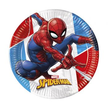 8 Assiettes compostable Spiderman