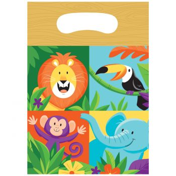 8 Sachets de fête Jungle party
