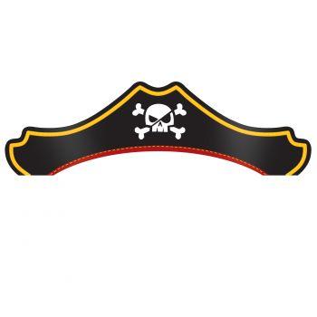 8 chapeaux trésor de pirate