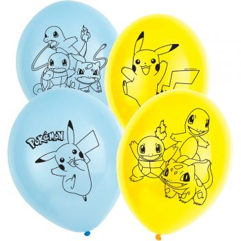 6 Ballons latex Pokemon