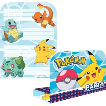 8 Cartes invitations Pokemon