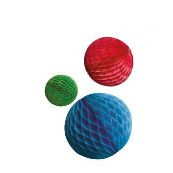 3 Boules alvéolées rainbow