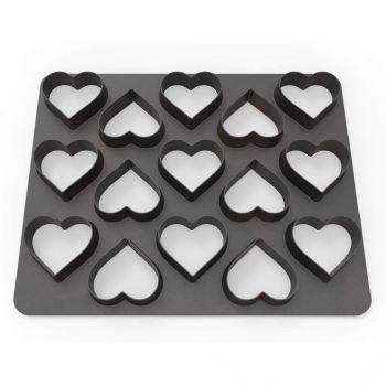 Plaque 15 emporte pièces coeur