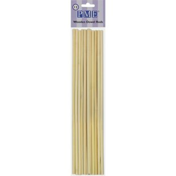 12 Dowel rods en bois 30cm