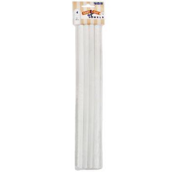 4 Dowel rods en plastique 30cm easycut