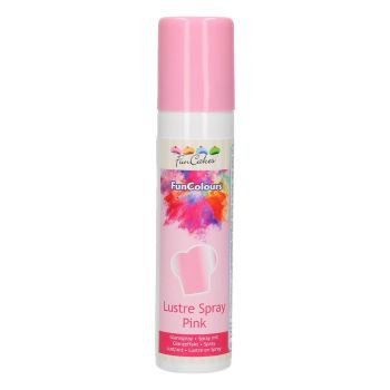 Spray lustrant alimentaire nacré rose Funcakes