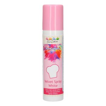 Spray velours alimentaire blanc Funcakes