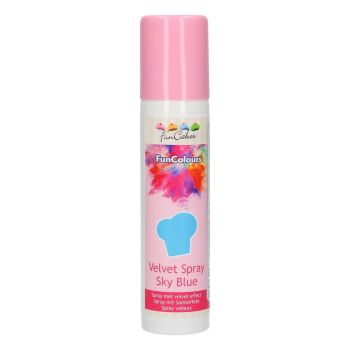 Spray velours alimentaire bleu Funcakes