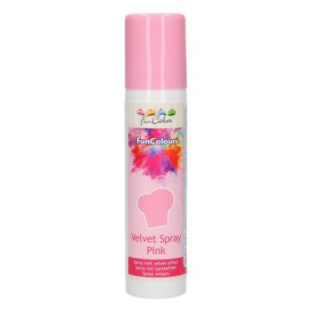 Spray velours alimentaire rose Funcakes