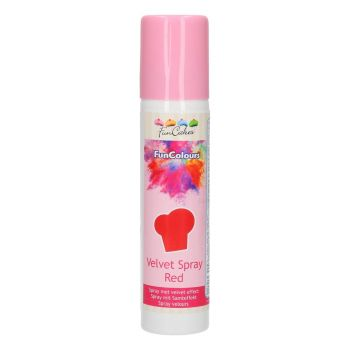 Spray velours alimentaire rouge Funcakes