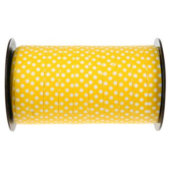 Bolduc à pois jaune 50 Mètres