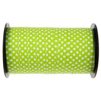 Bolduc à pois vert 50 Mètres