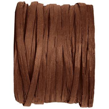 Bobine raphia chocolat 20m