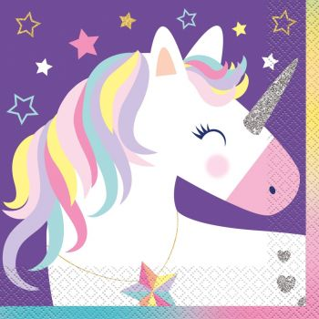 Serviettes Licorne Party