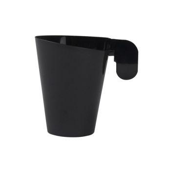 12 Tasses à café design noir en plastique