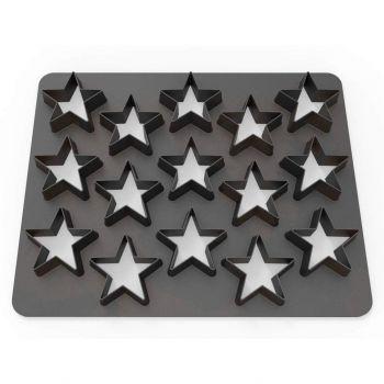 Plaque 15 emporte pièces étoiles