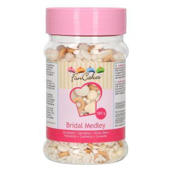 Mix confettis en sucre mariage Funcakes 180gr