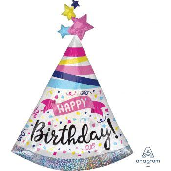 Ballons hélium géant Happy birthday sparkle