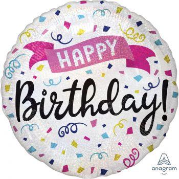 Ballons hélium Happy birthday sparkle