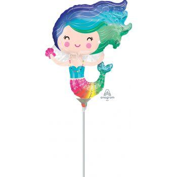 Mini ballon Sirène gonflé