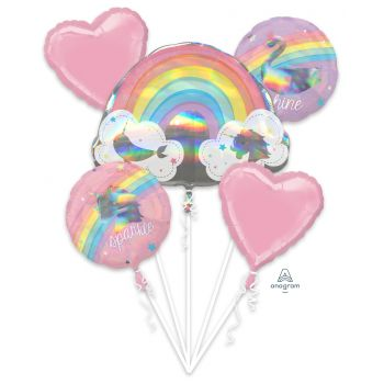 Bouquet ballons helium Magical rainbow