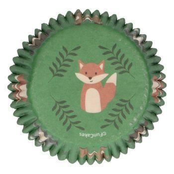 48 Caissettes Animaux de la forêt Funcakes