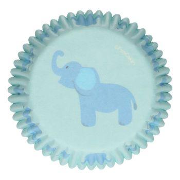 48 Caissettes Bébé bleu Funcakes