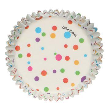 48 Caissettes confettis colorés Funcakes