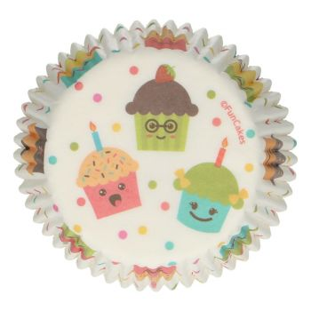 48 Caissettes Kawaï Funcakes