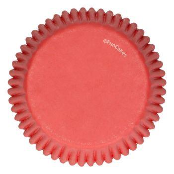 48 Caissettes rouge Funcakes