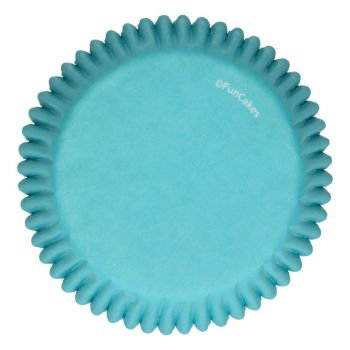 48 Caissettes turquoise Funcakes