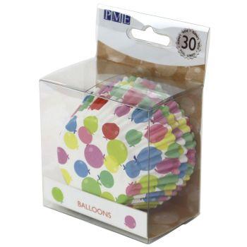 30 Caissettes alu ballons PME