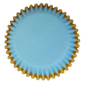 30 Caissettes alu bleu doré PME