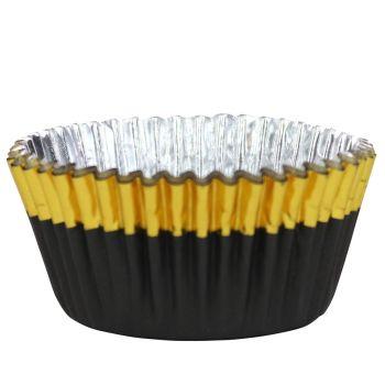 30 Caissettes alu noires doré PME
