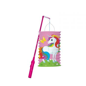 Kit lanterne papier Licorne color