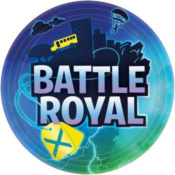 8 Assiettes Battle Royal
